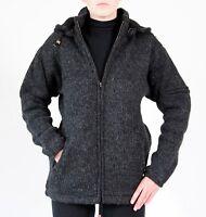 Wolljacke 6 Größen in 3 Farben 100% Schafswolle Handarbeit aus Nepal Strickmode
