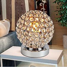Modern Chrome Crystal Table Lamp Bedside Sofa Living Room Night Light Lighting