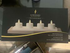 Luminara Flameless LED TeaLight Candles Ivory Real Flame Effect  Set of 4