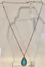 Lagos Maya Turquoise Doublet Sterling Silver Caviar Teardrop Pendant