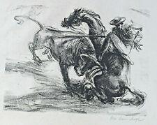 Signiert - Torero beim Stierkampf 5