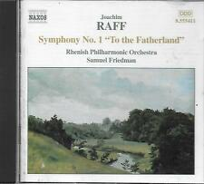 "CD album: Joachim Raff: Symphony N°1 ""To The Fatherland"". Friedman. naxos. M"