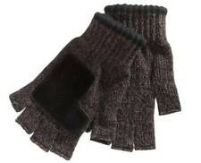 $165 Ryan Seacrest Men'S Brown Black Fingerless Knit Warm Winter Gloves One Size