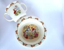 Royal Doulton Bunnykins Bowl And Mug Vintage 1984 Childrens Set Collectable Gift