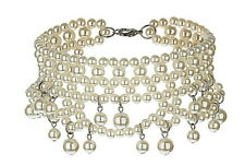TOPSHOP BEAUTIFUL FAUX PEARL CHOKER COLLAR BIB DRESS NECKLACE  NEW