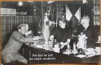 1940 Realphoto Postcard-Soldier/Beer-Dutch Bar Interior