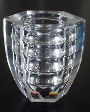 ORREFORS 1930s Edvin Ohrstrom Öhrström RARE Ribbed Optic Glass Vase, Sweden