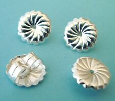 10pcs large 9.2mm sterling silver Round Swirl Earring Backing nutz Clutch E31s