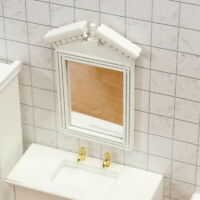 1/12 1/6 Scale Dollhouse Miniature White Mirror Frame Doll House Decor