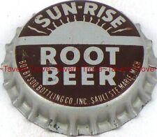1940s MICHIGAN Sault Ste Marie Soo SUN-RISE ROOT BEER Cork Crown Tavern Trove