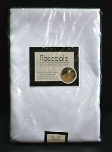 """Rosedale Spillproof Tablecloth White 60"""" x 86"""" Microfiber Liquid Repellant New"""