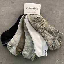 Calvin Klein -Womens No Show Socks -6 Pairs -Green/Grey/Black - 4-7UK /37-41 EU