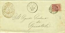 GG288-MARCHE, OFFIDA, NUMERALE A SBARRE PER SPINETOLI, 1887