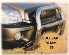 FIT HYUNDAI SANTA FE 2001-2006 BULL BAR CHROME NUDGE A-BAR STAINLESS STEEL 76MM