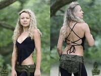 Fairy Top, Festival Backless Pixie Elven Boho Burning Man Rave Psytrance Summer