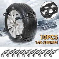 10pcs Car Truck Tyre Wheel Snow Chain Tire Beef Tendon TPU Anti-skid Belt Winter
