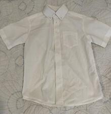 Boys' 'Chaps' White Short-Sleeved Button Down Dress/School Uniform Shirt Size 8