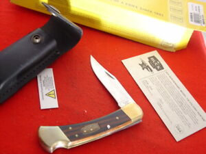 """Buck USA FOLDING HUNTER 110 5"""" Lock Blade 50th Anniversary Lockback Knife MINT"""