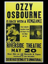 "Ozzy Osbourne Riverside 16"" x 12"" Photo Repro Concert Poster"