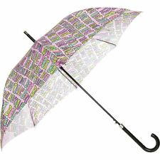 BOUTIQUE MOSCHINO Pink Slogan Printed Umbrella rrp £81 - New