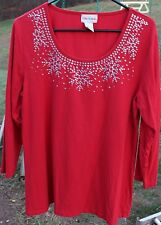Women's Red Shirt by Toffee Affle; Size:  XXL