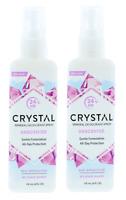 2X Crystal Body Mineral Deodorant Spray Unscented 118ml