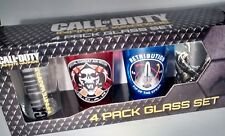 Call of duty PINT Bar Glass Set Of 4 NIB videogame glass box gift set