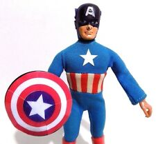 MEGO CAPTAIN AMERICA 8 INCH VINTAGE TYPE 2 1970's ACTION FIGURE (COMPLETE)