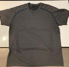 Lululemon Men's  Gray Short Sleeve Shirt Size XXL Athletic Top