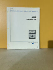 Hp 00435 90018 435a Power Meter Operating And Service Manual