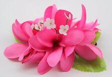 Hawaii Hair Clip Lei Party Luau Plumeria Flower Dance Beach Photo Hot Pink