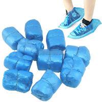 50 Pairs 100 PCS Disposable Plastic Shoe Covers Carpet Shoes Cover Overshoes
