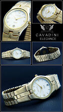 Original box-papiere Noble Cavadini Watch Hard Gold Plated Designer Dial