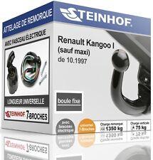 ATTELAGE fixe RENAULT KANGOO I de 1997 + FAISC.UNIV.7 broches COMPLET