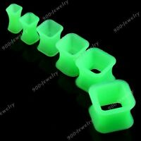 4-12MM Square Rhombus Silicone Flexible Ear Tunnels Plug Expander Earlets Gauges