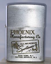 "Vintage 1957 Zippo Lighter Advertising ""Phoenix Manufacturing Co""  L2"