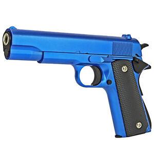 GUN - Softair Pistole Voll Metall MBX RV14 blue - 1:1 - 22cm - 450g - 6mm - blau