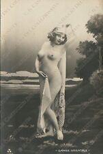 Risque Nude Lady old vintage erotic photo postcard nudo artistico