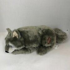 Lou Rankin Friends Applause Raoul Timber Wolf  Plush Stuffed Animal Gray