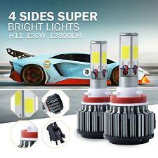 Warranty 4 Sides 120W 6000K White COB LED Headlight Kit H8 H9 H11 Low beam Bulb