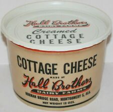Vintage container HALL BROTHERS DAIRY FARMS Cottage Cheese Montgomery Alabama