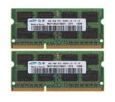 Samsung 8GB 2X 4GB 2RX8 DDR3 1066MHz PC3-8500S 204Pin SODIMM Intel Laptop Memory