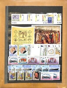 [OP4594] Tristan Da Cunha lot of stamps on 8 pages