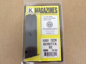 Beretta 92 10 Rd Magazine by Triple K #1322M
