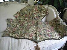 """TAPESTRY LINED FRINGE WITH DANGLY~SCALLOPED 'SPRINGS"""" (PAIR) VALANCES  #228"""