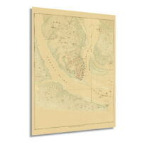 HISTORIX Vintage 1780 Map of the Investiture of Charleston South Carolina