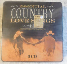 Essential Country Love Songs 60 Heartfelt Classics Metal Box 3 CD SEALED