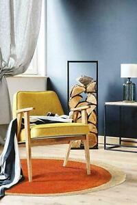 Rug 100%Natural jute Handmade Reversible Floor Mat Orange Living Area Carpet Rug