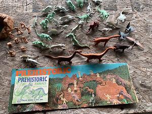 louis marx vintage prehistoric animals set