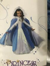 "Princess Paradise Blue ""Frozen"" Glitter Hooded Children's Cape with hood"